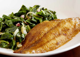 tilapia and greens